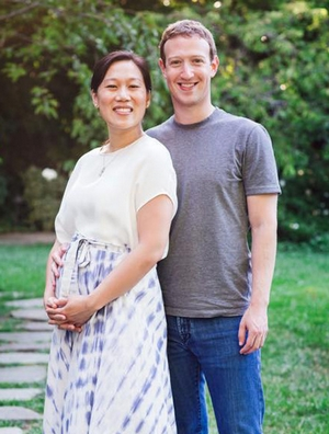 Mark Zuckerberg i Priscilla Chan na spacerze